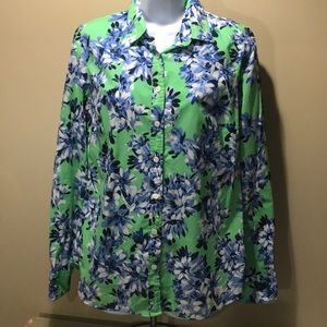 JCREW The Perfect Shirt Floral Pattern -Q110